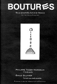 Boutures, couverture volume 1, numéro 2