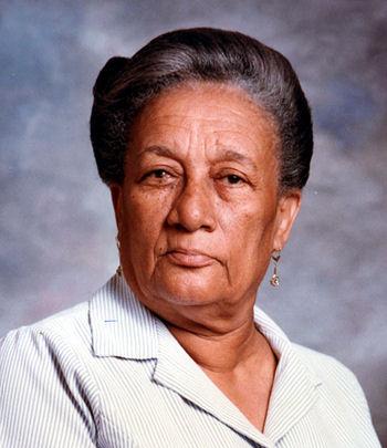 Marie-Thérèse Colimon Hall, photo prise à Port-au-Prince vers 1987 archives de la famille Colimon, D.R.
