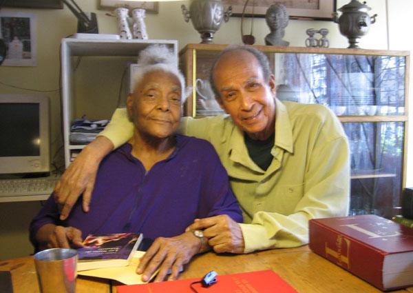 Jacqueline Scott-Lemoine et Lucien Lemoine chez eux à Dakar, février 2006 photo © 2006 Joëlle Vitiello
