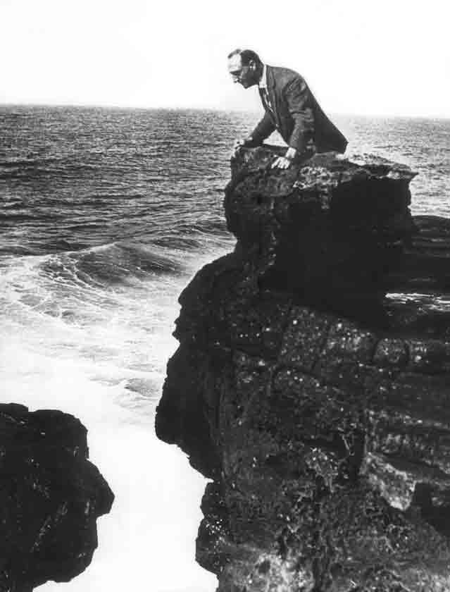 Robert-Edward Hart sur La-Roche-qui-pleure Photo D.R. Photo Museum