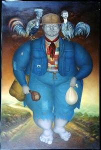 Épaules droite et gauche de Saint-Louis Blaise (1989) Collection de Michel Monnin; photo de Bill Bollendorf. (Sur chacune des épaules: André Pierre et Jean-Claude Duvalier)