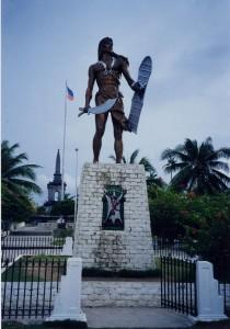 Le monument à Lapulapu photo © 1999 H. Morvan Cebu, Philippines