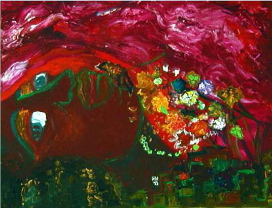 La Beauté de Stéphane Martelly 18'x20' acrylique sur canevas © 1995