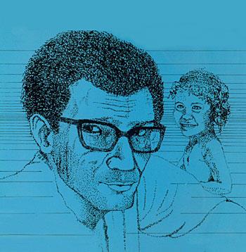 Illustration de couverture du recueil Cette igname brisée qu'est ma terre natale / Gran parad ti kou baton paru aux Éditions Caribéennes. © 1982, utilisée avec permission