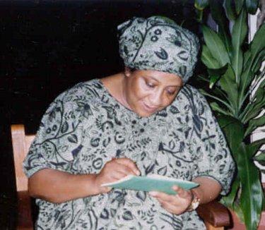 Ina Césaire, photo © C. Makward Conférence de l'African Literature Association (ALA), Gosier (Guadeloupe), 1993